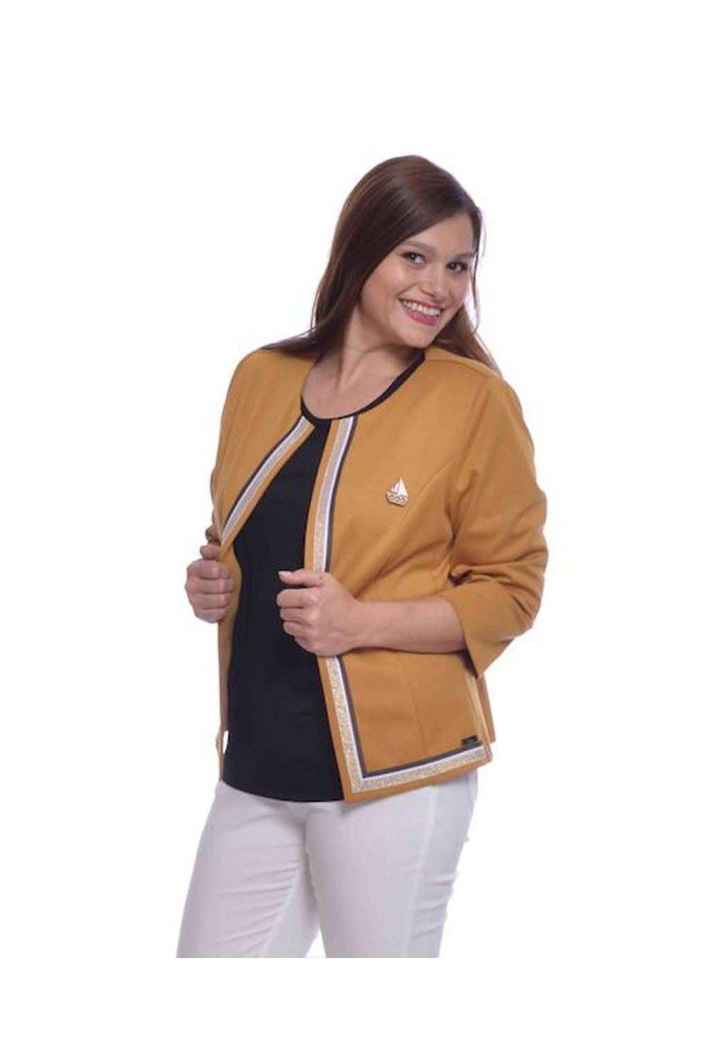 0620 Kabátek stuha (Velikost 36, Barva Žlutá)