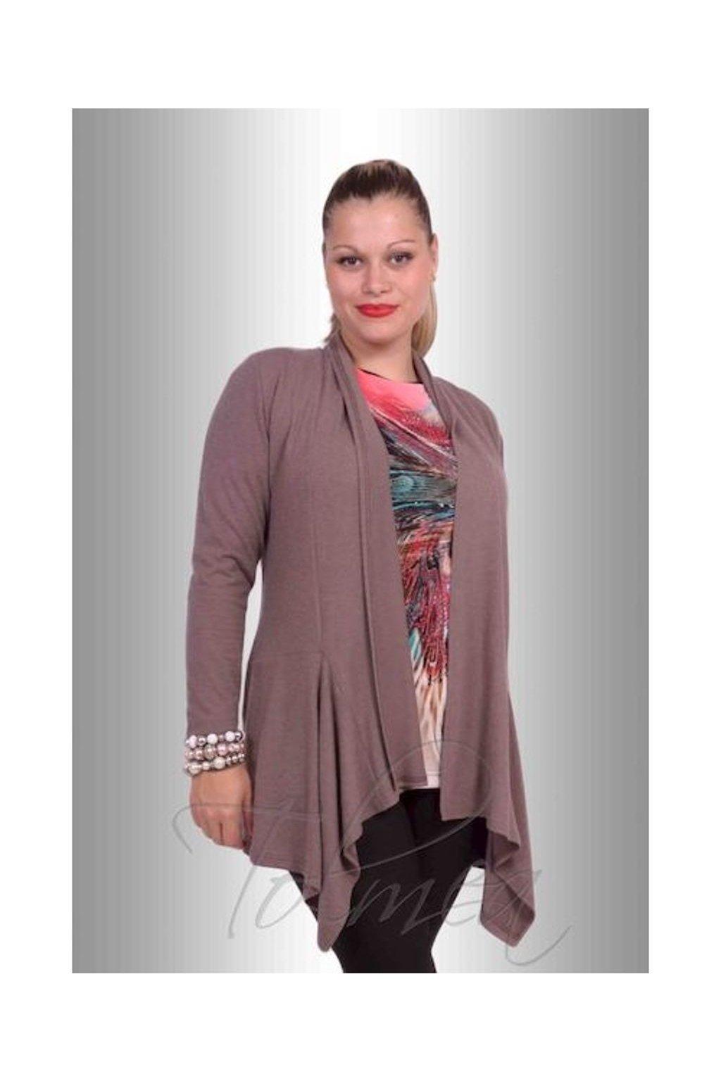 Kabátek angora cíp 7915 (Velikost 38, Barva Béžová)
