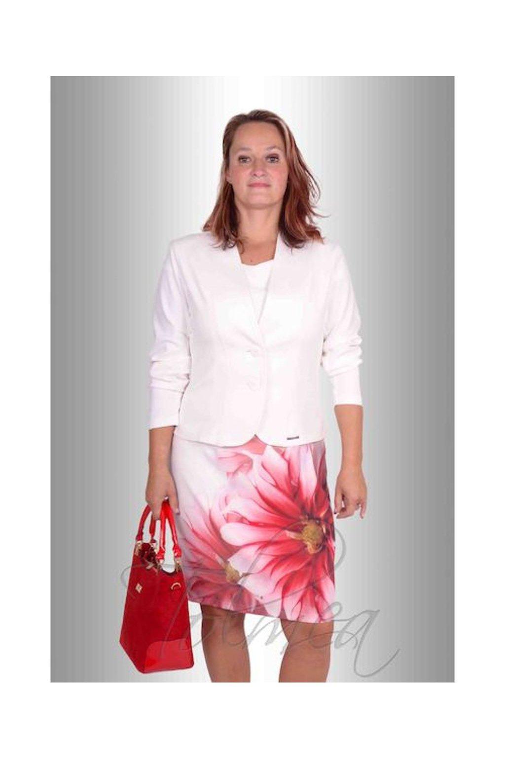 Kabátek k šatům 2117 (Velikost 36, Barva Bílá)