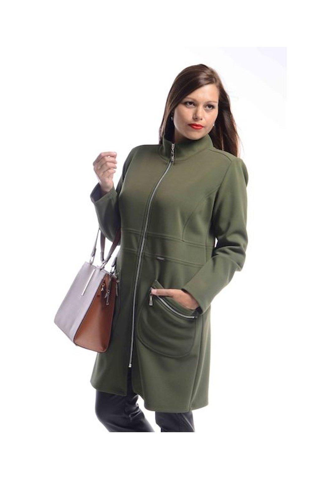 7120 Kabát Elegance (Velikost 36, Barva Khaki)