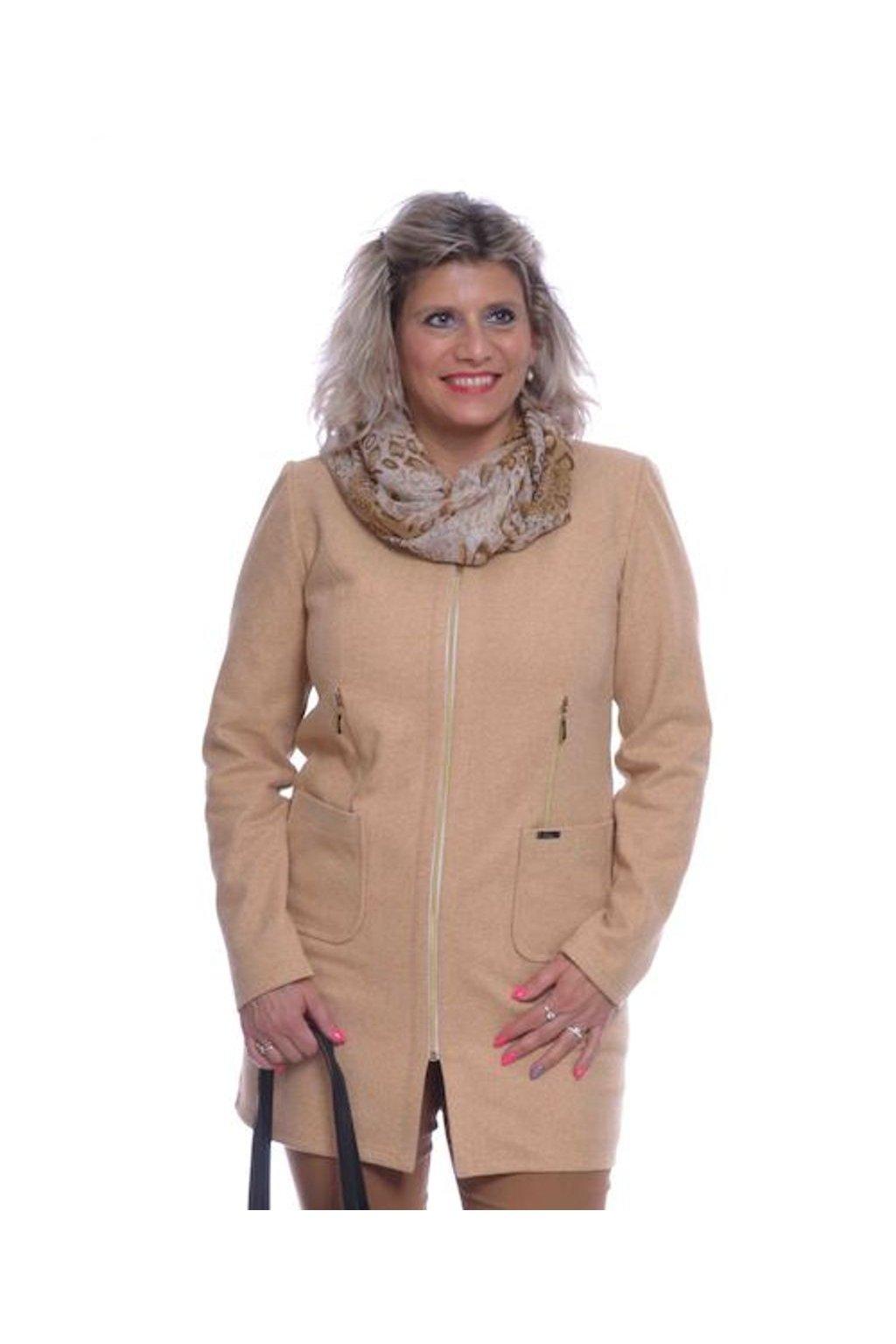 0120 Kabátek zipy (Velikost 36, Barva Žlutá)
