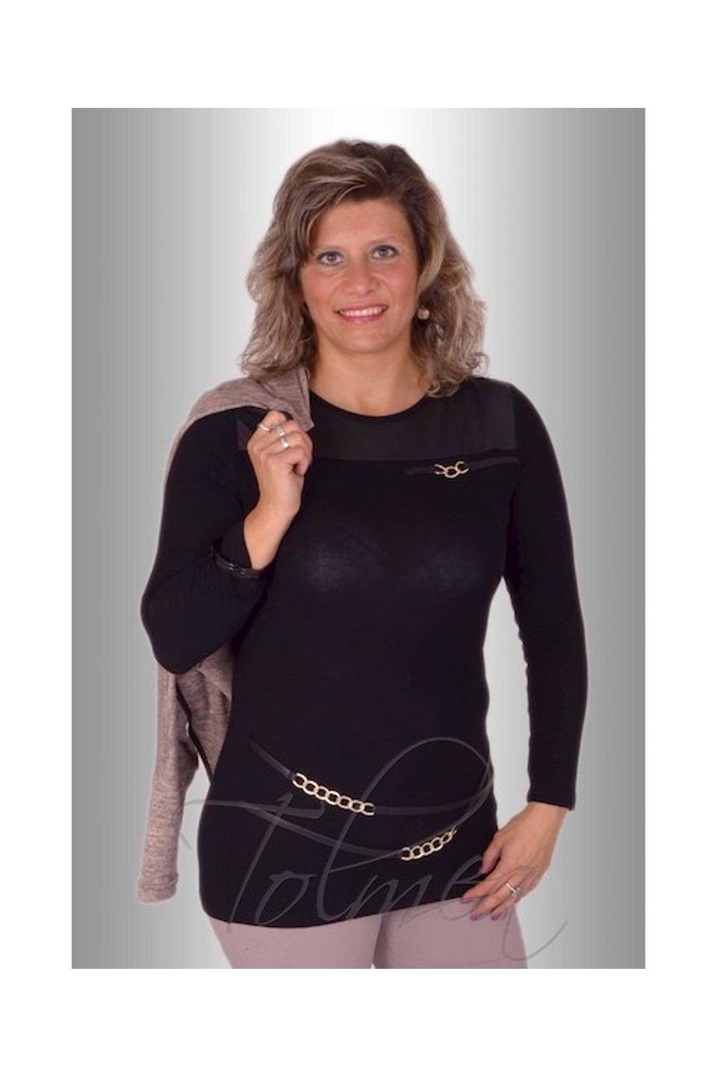 Tunika řetízky 1415 (Velikost 36, Barva Černá)