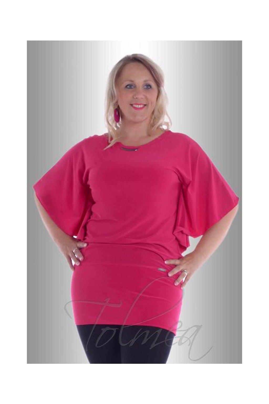 Kimono společenské volné 8917 (Velikost 36, Barva Růžová)