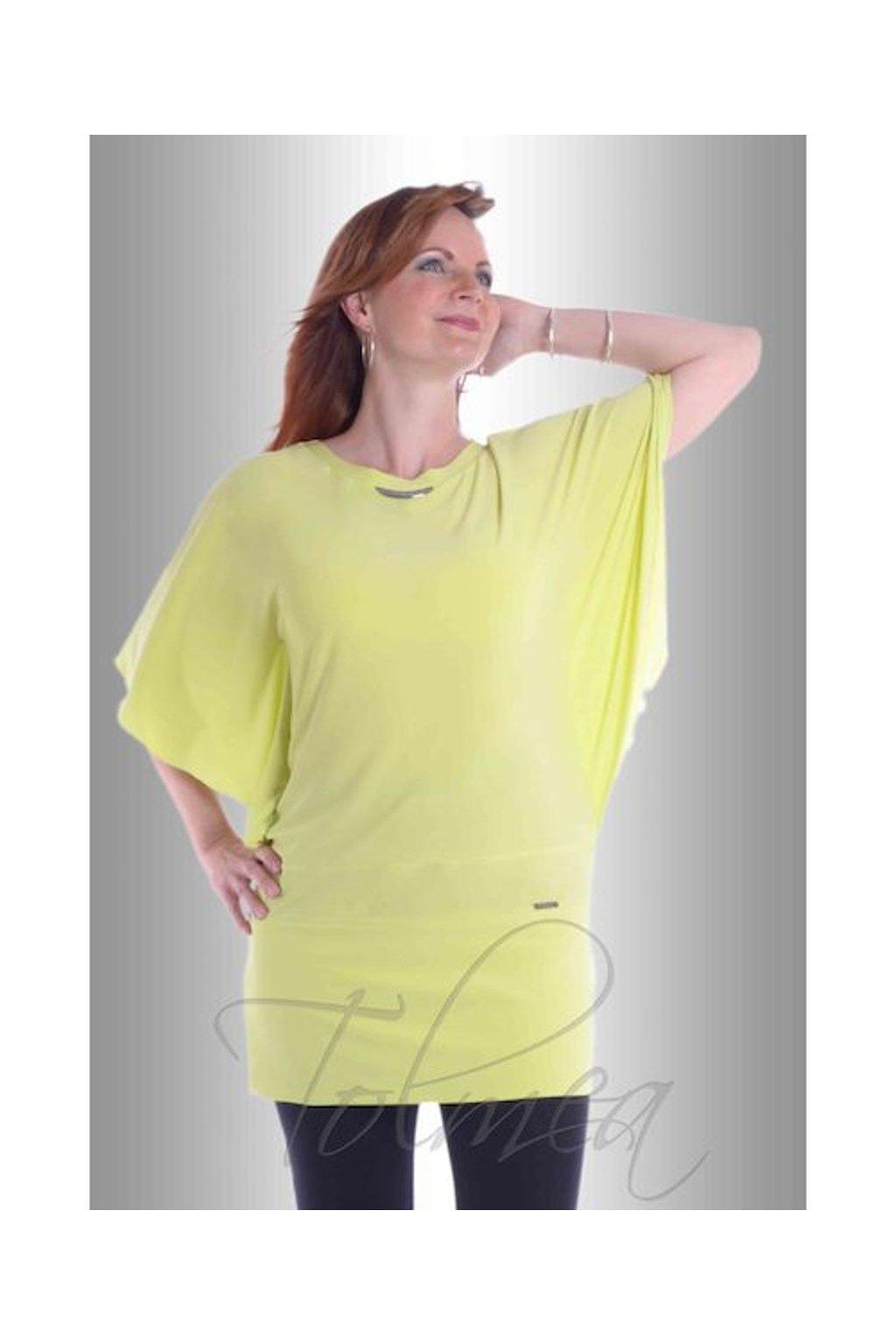 Kimono společenské volné 8917 (Velikost 36, Barva Žlutá)