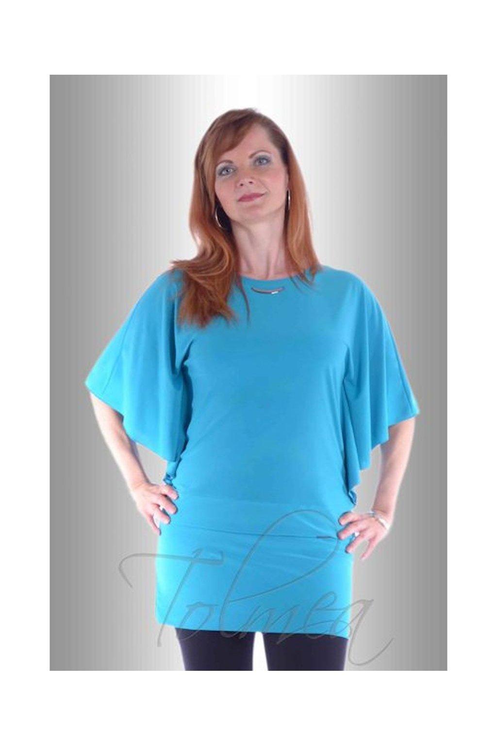 Kimono společenské volné 8917 (Velikost 36, Barva Modrá)