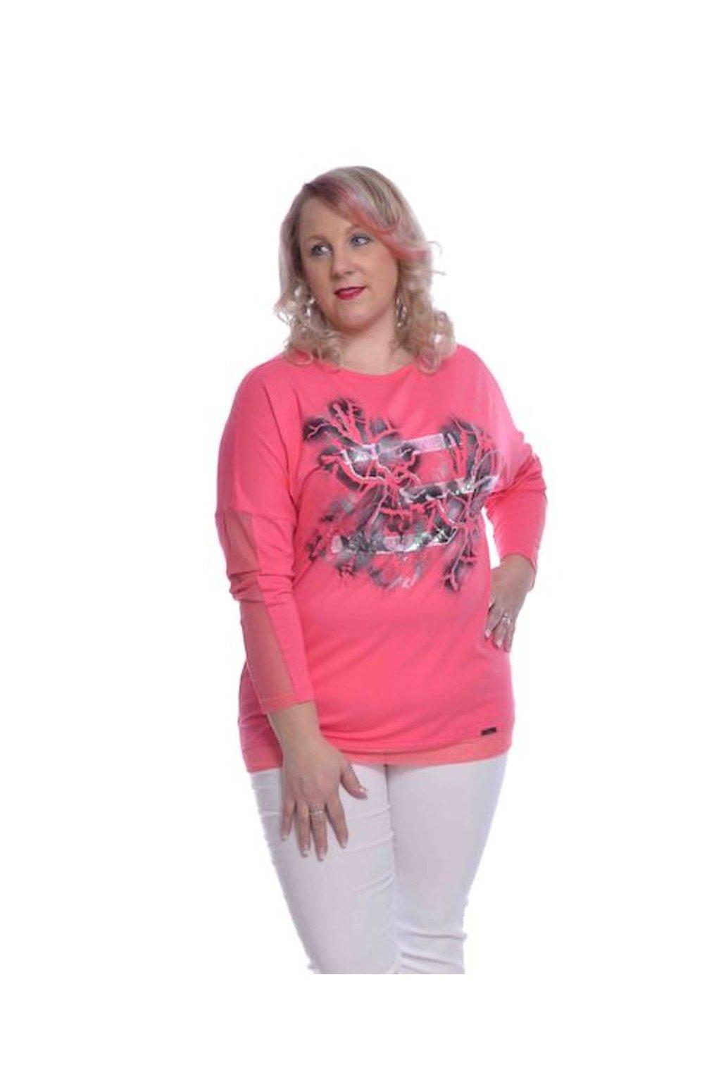 2820 Kimono střik stuha (Velikost 36, Barva Růžová)