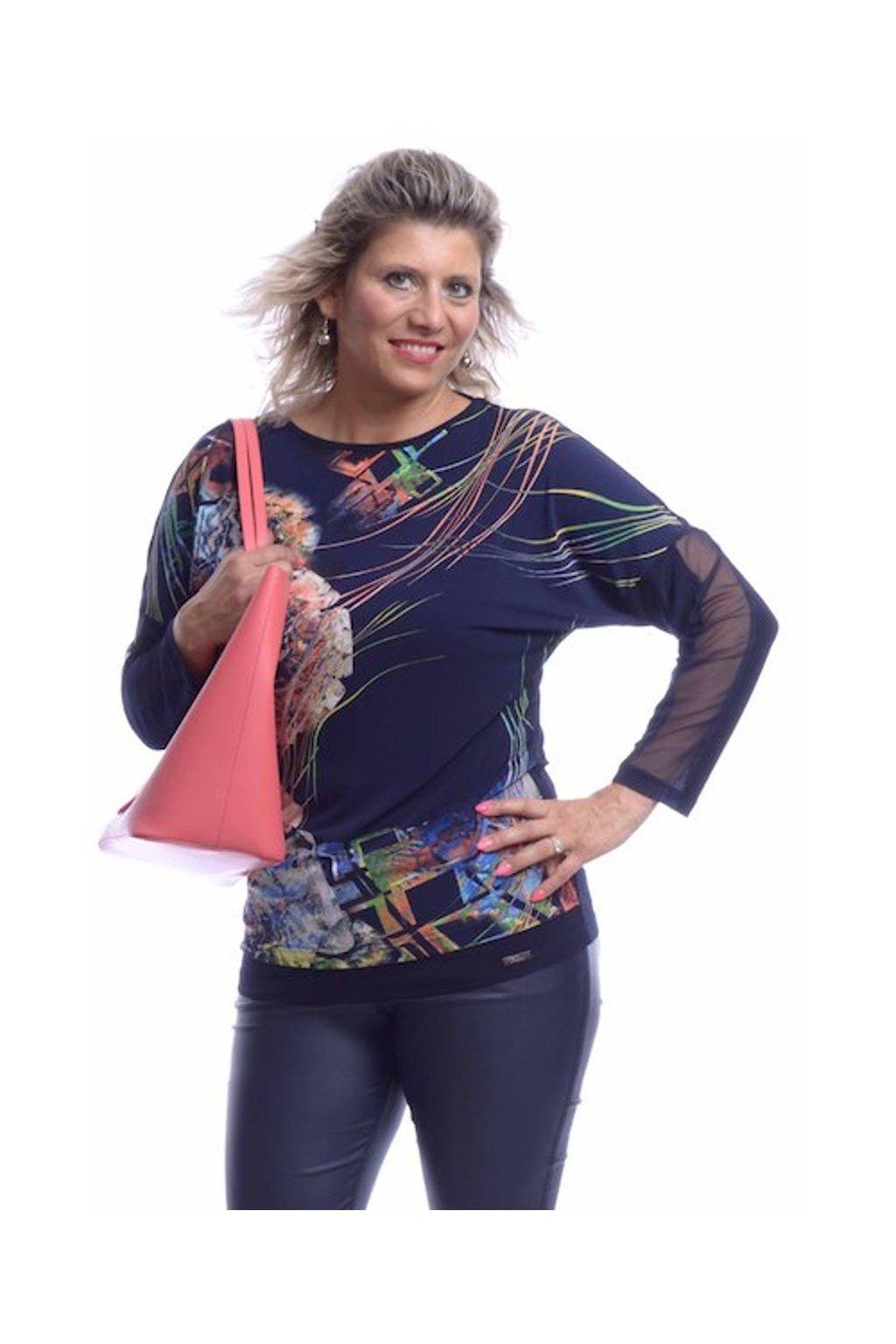 10219 Kimono mašle šifon (Velikost 36, Barva Vzorovaná)