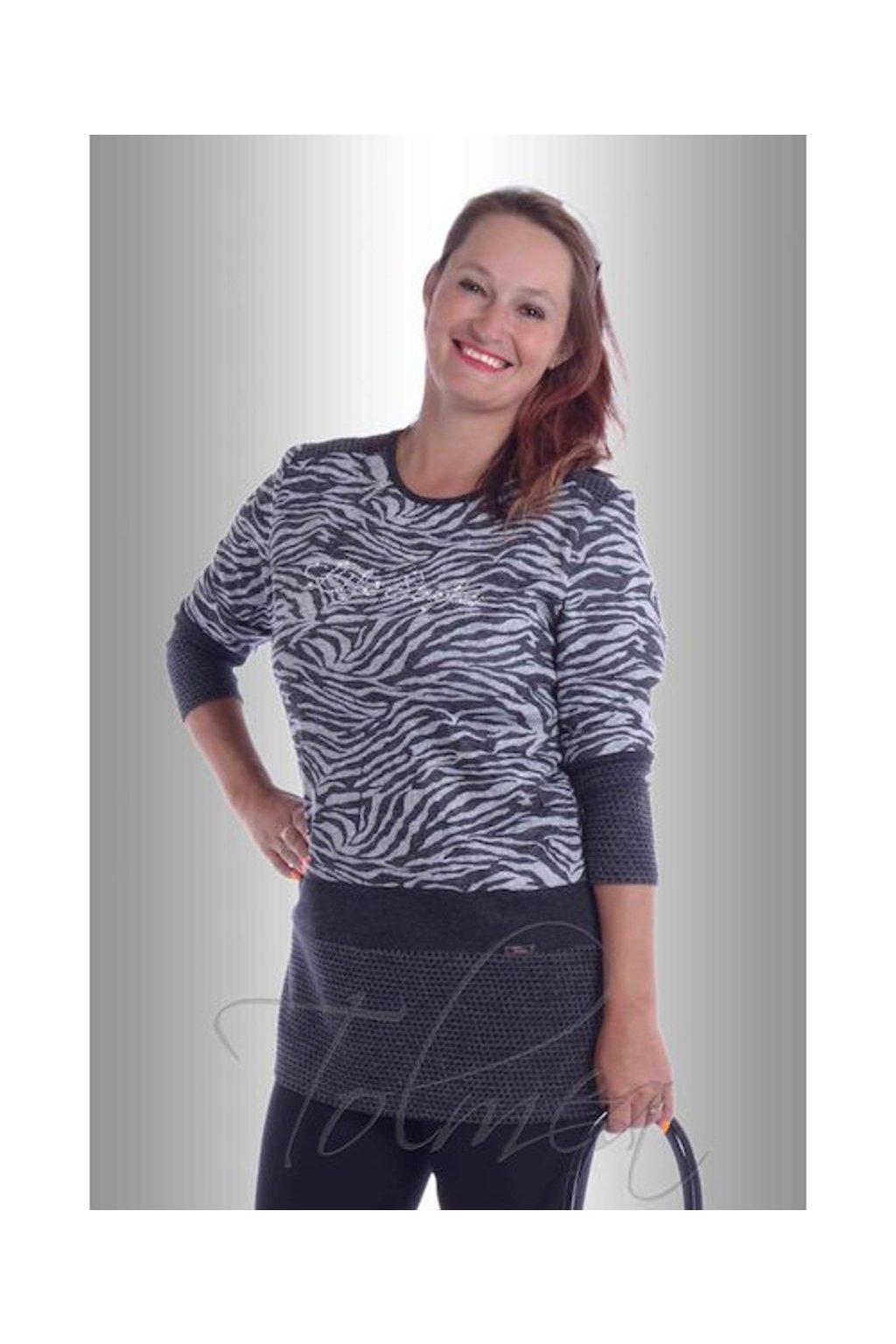 Tunika svetrovina life style 6617 (Velikost 38, Barva Vzorovaná)