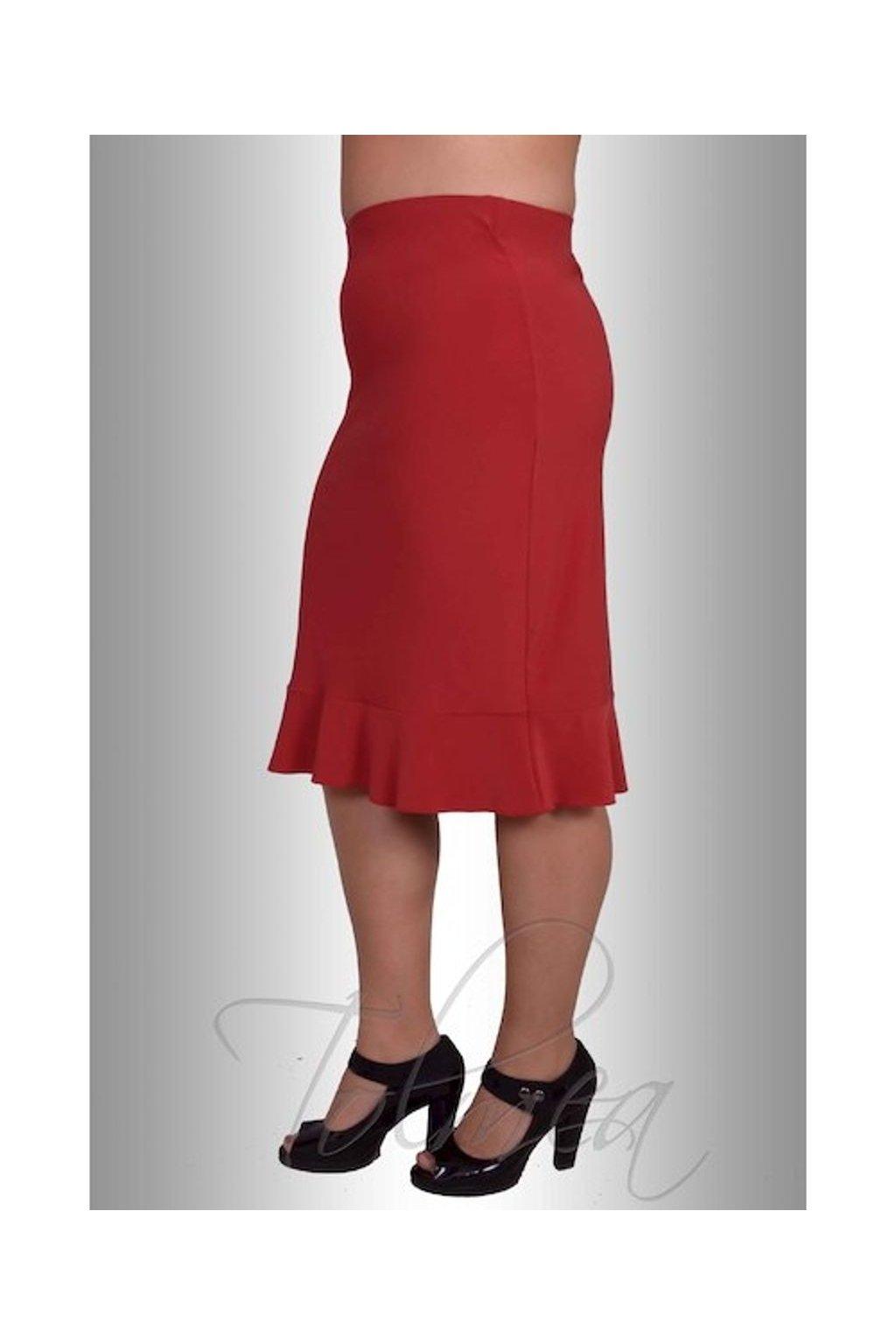 Sukně uni s kanýrkem 73 cm (Velikost 38, Barva Černá)