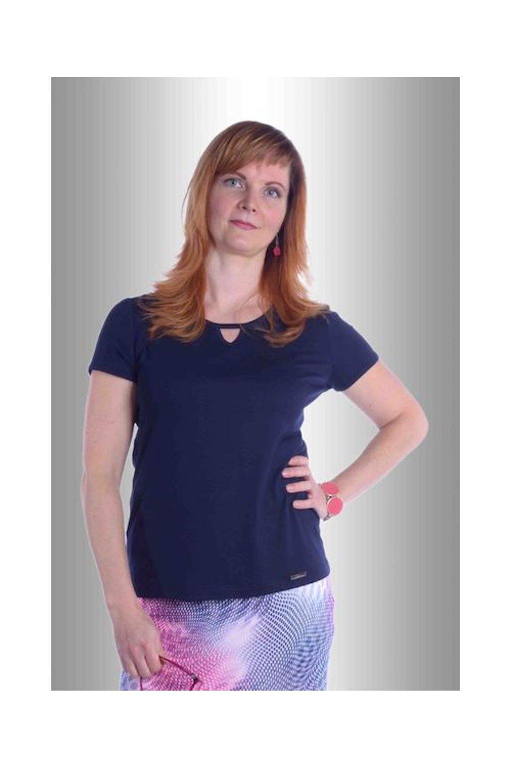 Tričko V do lemu 5117 (Velikost 36, Barva Modrá)