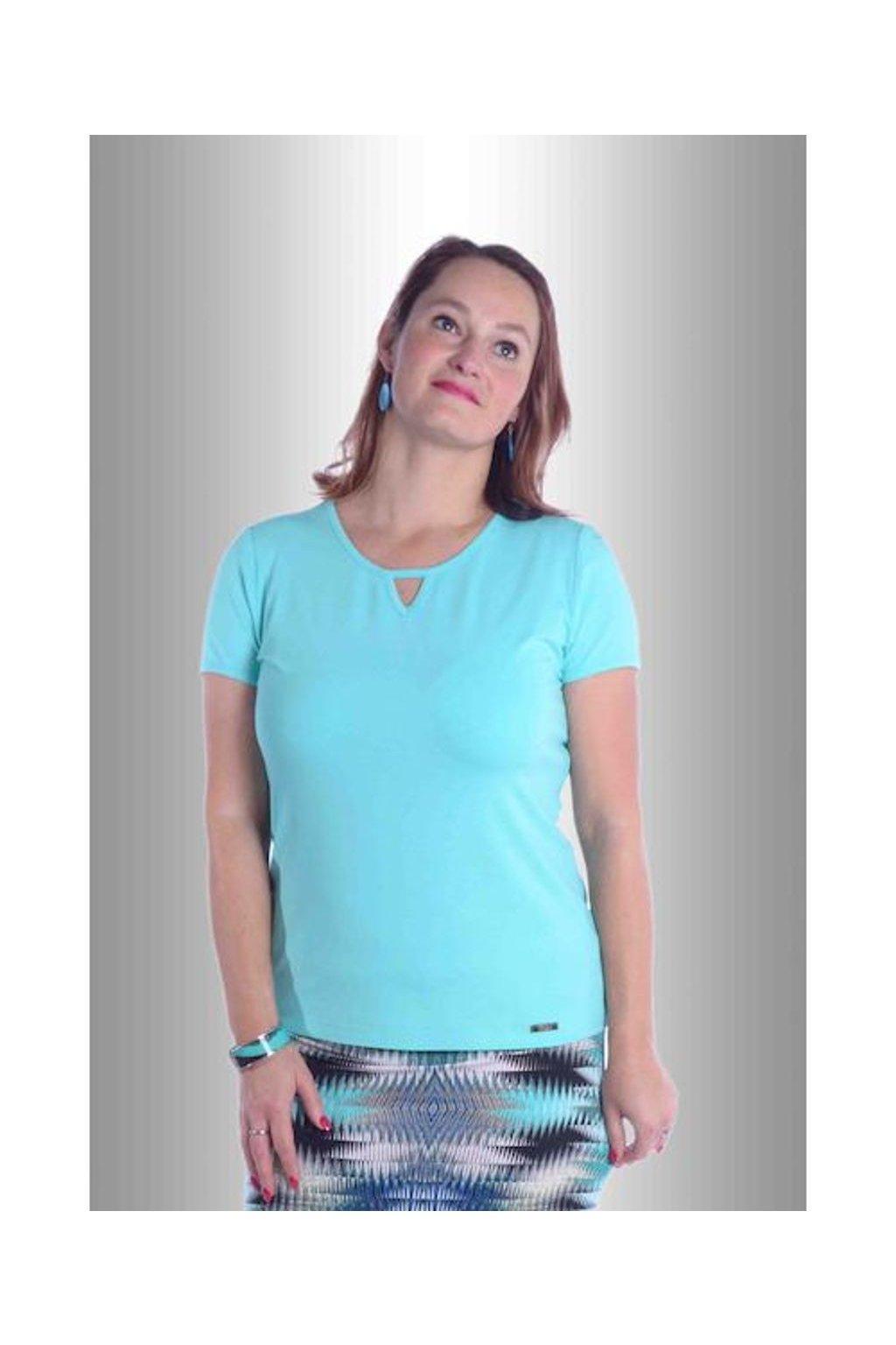 Tričko V do lemu 5117 (Velikost 36, Barva Tyrkysová)