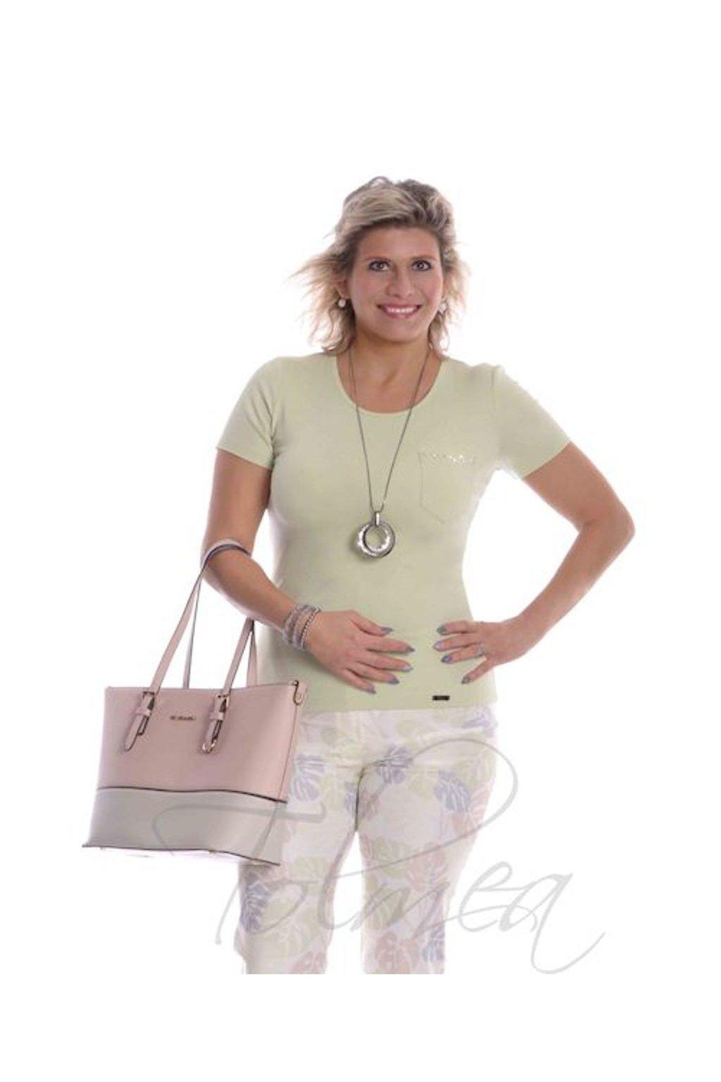 2619 Tričko kapsička (Velikost 36, Barva Zelená)