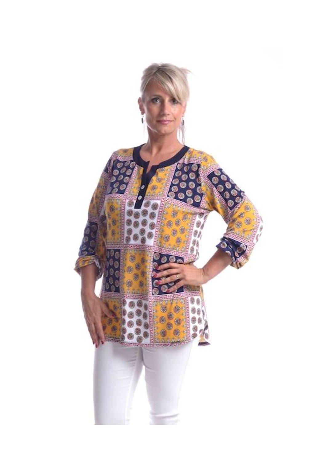 9720 Tunika Laura (Velikost 36, Barva Vzorovaná)