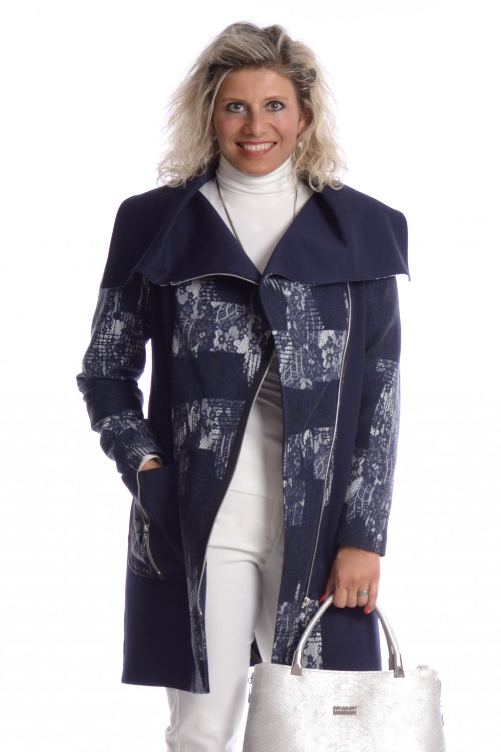 6018 Kabát límec patchwork o140 (6)