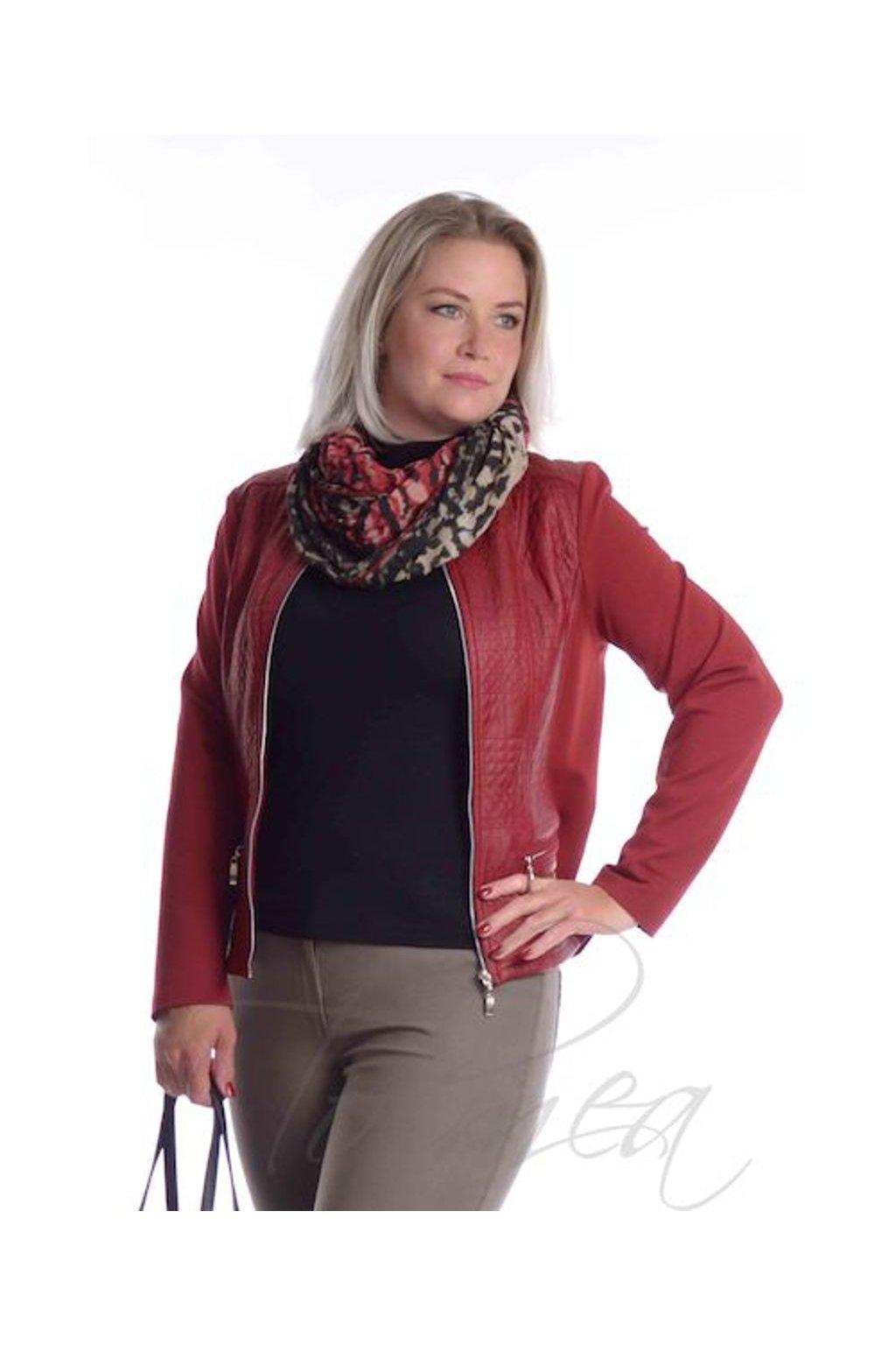 Bundička koženka zipy 5718 červená (Velikost 36, Barva Červená)