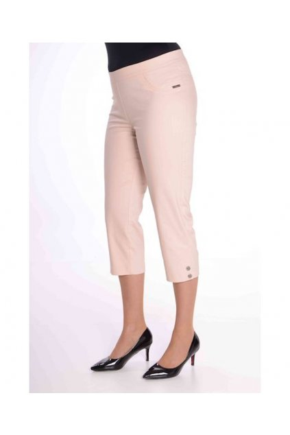 69T Kalhoty Julie (Velikost 36, Barva Pudrová)