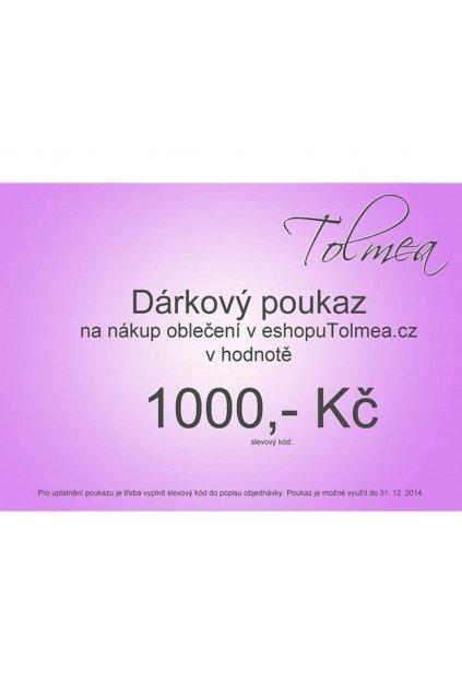 Dárkový poukaz (Velikost 1000)