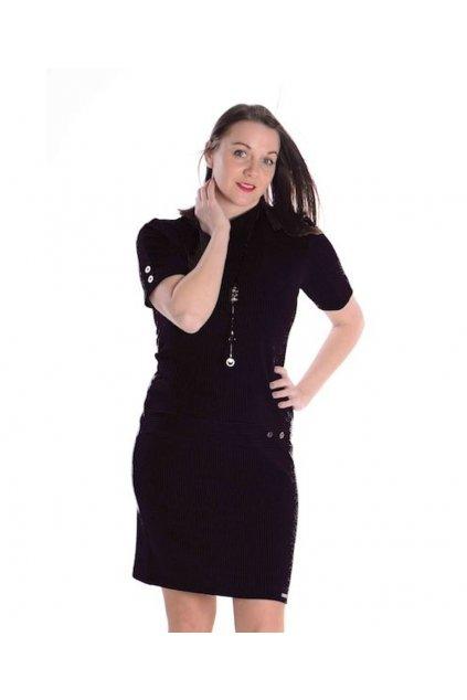 1621 Šaty Vera kr.ruk (Velikost 36, Barva Černá)