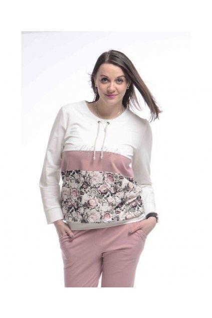 0721 Mikina Style (Velikost 36, Barva Bílá)