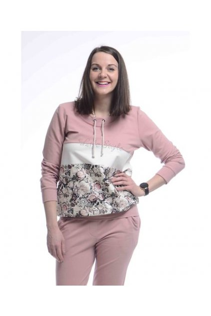 0721 Mikina Style (Velikost 36, Barva Růžová)