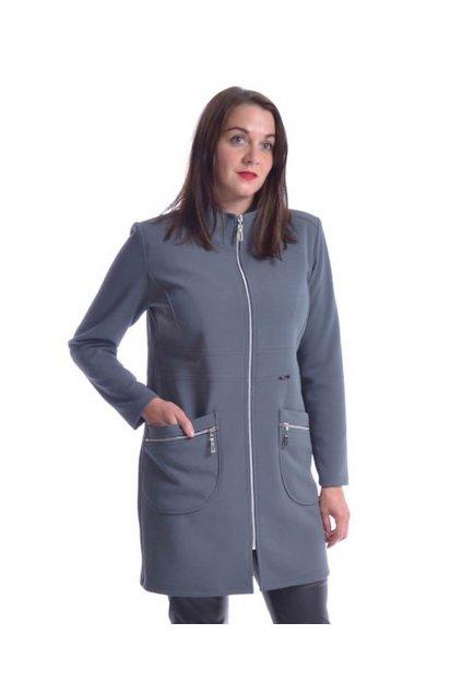 7120 Kabát Elegance (Velikost 36, Barva Šedá)