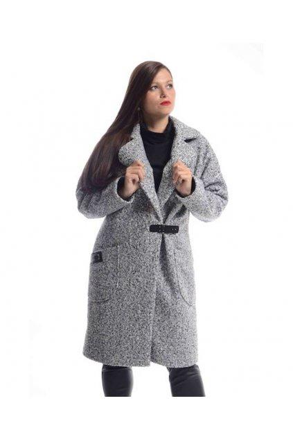 7320 Kabát Carla (Velikost L, Barva Šedá)