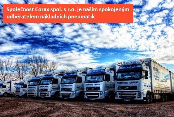 Na pneumatikách od nás jezdí společnost Corax spol. s r. o.