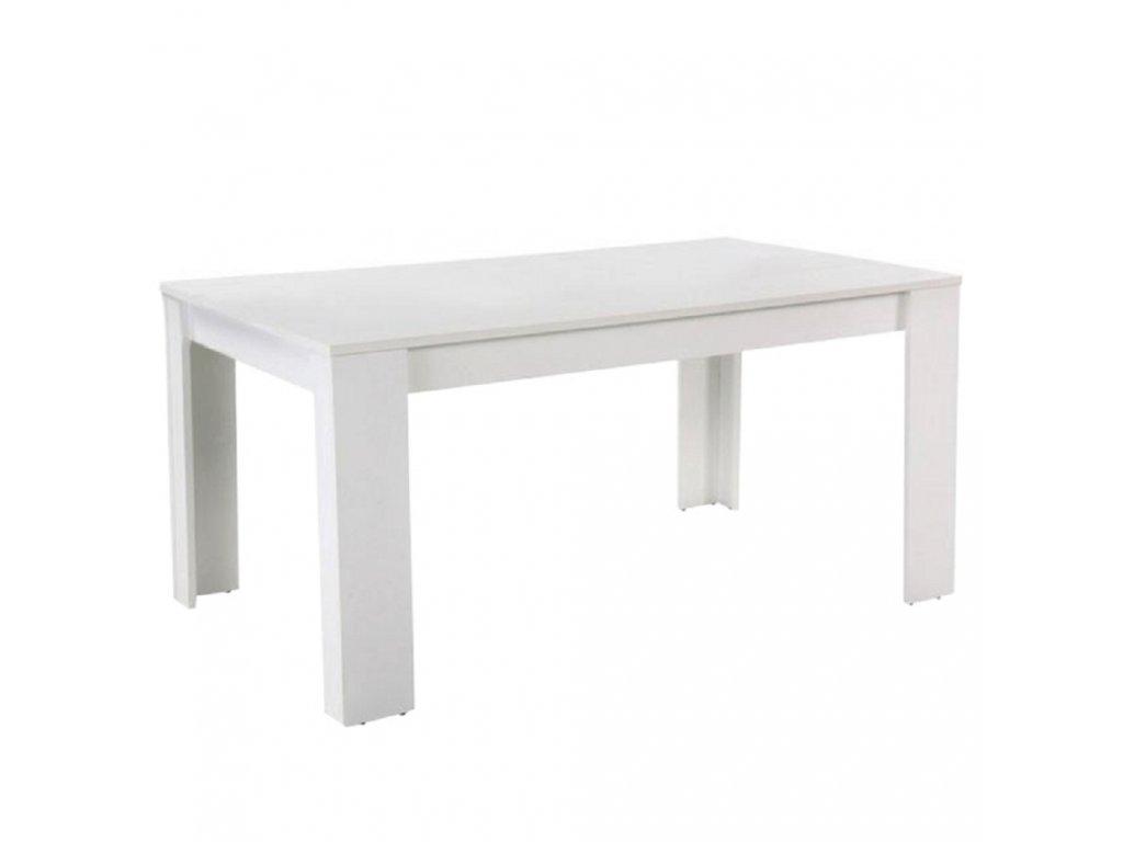 Jedálenský stôl, biela, 160, TOMY NEW