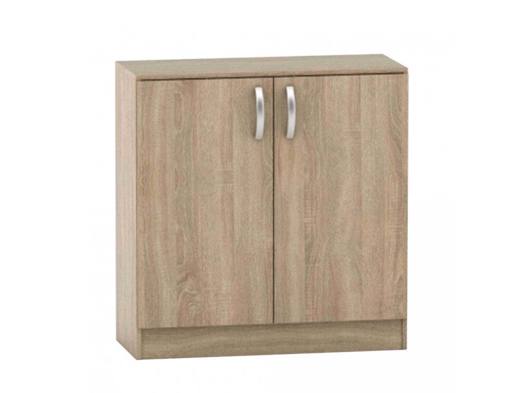 2-dverová komoda, dub sonoma, BETTY 2 BE02-008-00