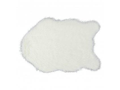 Umelá kožušina, biela, 60x90, EBONY TYP 1