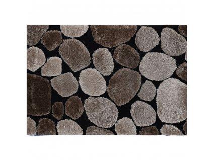 Koberec, hnedá/čierna, 100x140, PEBBLE TYP 2