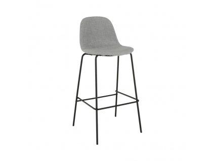 Barová stolička, svetlosivá látka/kov, MARIOLA NEW, 0000203862, 84