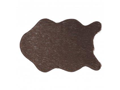Umelá kožušina, sivohnedá-taupe/strieborná, 60x90, FOX TYP 4
