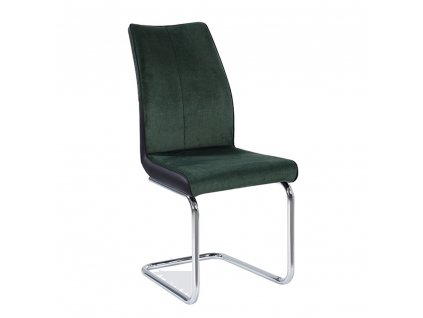 Jedálenská stolička, smaragdová/čierna, FARULA, 0000237285, 84