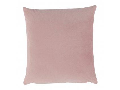 Vankúš, zamatová látka púdrová ružová, 60x60, OLAJA TYP 2