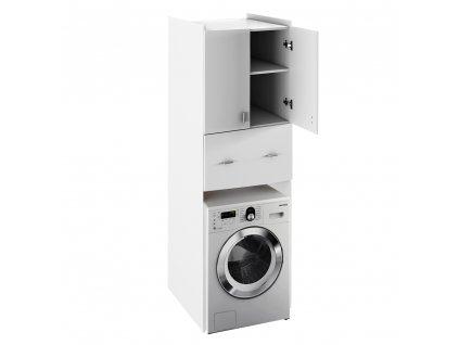 Hlboká skrinka nad práčku, biela, NATALI TYP 9