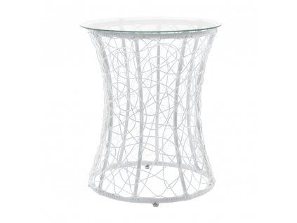 Príručný stolík, biela, SALMAR NEW