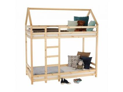 Poschodová posteľ, prírodná, 90x200, FREYA, 0000261040, 84