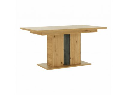 Jedálenský rozkladací stôl, dub artisan/sivý betón, ERIDAN, 0000264001, 84