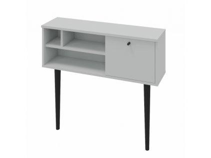 Konzolový stolík, svetlosivá/čierna, DEMONT, 0000264424, 84