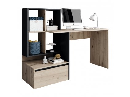NEREO - PC stôl, dub, 0000269196, 84