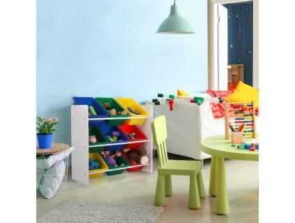KIDO TYP 2 - Organizér na hračky, biela, 0000274454, 84