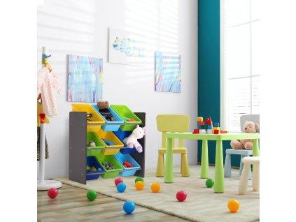 KIDO TYP 3 - Organizér na hračky, sivá, 0000274455, 84