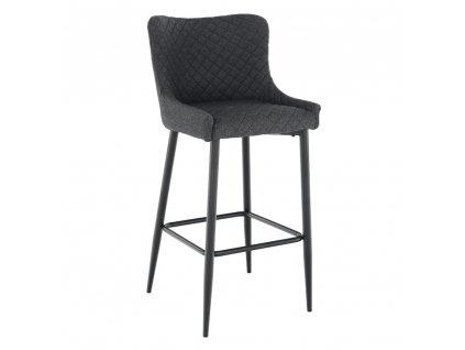 Barová stolička, sivá/čierna, CEZARIA, 0000275337, 84