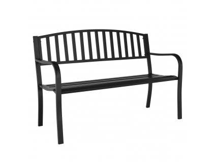 Záhradná lavička, čierna, HEBRA