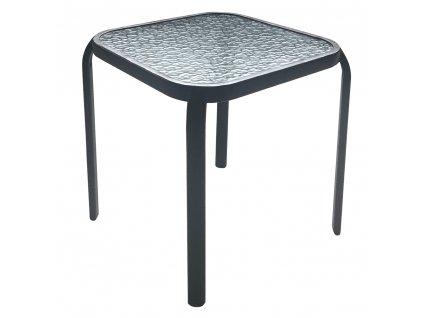 Záhradný príručný stolík, čiena oceľ/tvrdené sklo, RAMOL, 0000276605, 84