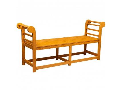 Záhradná lavička, masívne drevo, URITA, 0000277769, 84