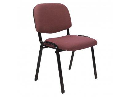 Kancelárska stolička, červenohnedá, ISO 2 NEW, 0000279341, 84
