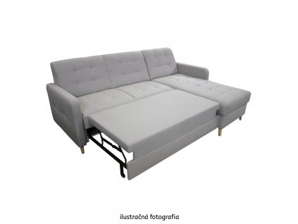 Univerzálna rohová sedačka, sivá mix, VISBY, 0000294215, 84