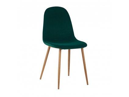 Stolička, smaragdová Velvet látka/buk, LEGA
